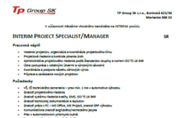 Interim Project Specialist Manager