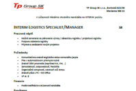 Interim Logistics Specialist Manager